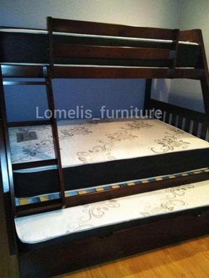 Twin/full/twin bunk beds with mattresses included for Sale in Chino, CA