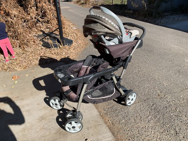 Graco Double Stroller with Car Seat
