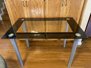 "Tempered Glass/Metal Desk & Table 29"" x 43"" x 27"" for Sale in Turlock, CA"