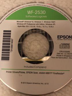 Epson WF-2530 Printer Driver Disc for Sale in San Jose,  CA