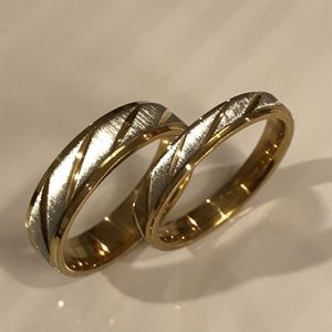 18K Gold plated Wedding Band Ring Set for Lovers for Sale in Los Angeles, CA