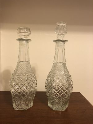 Wine crystal glass containers for Sale in Washington, DC