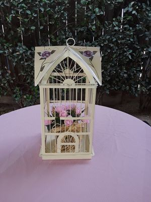 """Hand painted Bird Cage 17""""h 9""""w for Sale in Fresno, CA"""