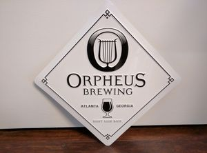 Orpheus Brewing Metal Sign for Sale in Duluth, GA