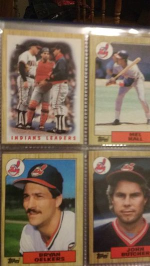 Cleveland Indians. Topps cards. Album. 1987 for Sale in Northfield, OH