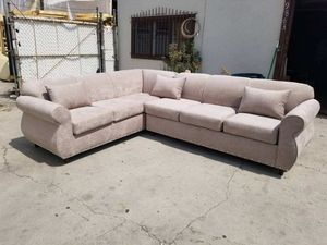 NEW 7X9FT GIBSON CREAM FABRIC SECTIONAL COUCHES for Sale in Hawthorne, CA