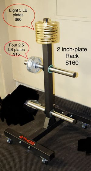 Weight Rack and 2-inch plates for Sale in Cuyahoga Falls, OH