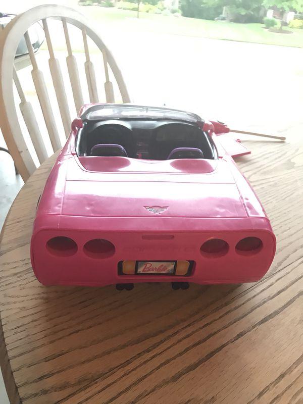 Remote control Barbie corvette