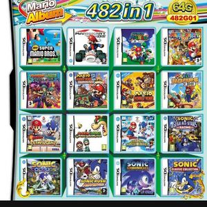 482 in 1 Video game reproduction cartridge for Nintendo DS, DS Lite, DSi, 2DS, 3DS, or XL for Sale in Tustin, CA