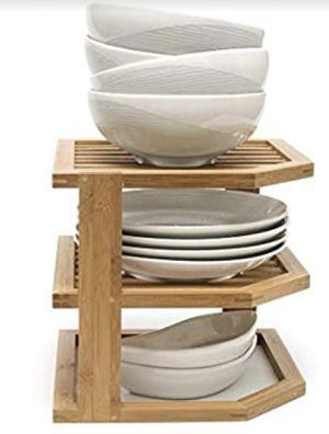 Bamboo Wood 3-Tier Corner Kitchen Storage Shelf for Sale in Las Vegas, NV