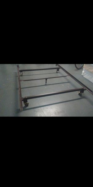 Bed frame rails for Twin, full and queen with wheels. for Sale in Orlando, FL