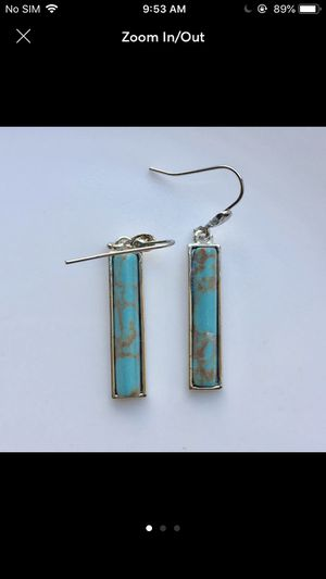 Silver plated vintage turquoise dangles earrings for Sale in Silver Spring, MD