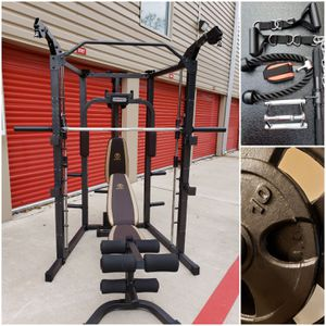 Marcy Smith Machine Home Gym w/ Weights. NEW. CAN DELIVER. PRICE FIRM. READ POST for Sale in Houston, TX