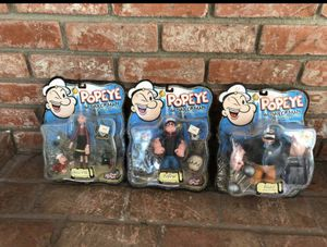Popeye the sailor man a classic since 1929 toy action figures in the box still sealed never opened unopened Christmas Toys collectibles for Sale in La Mesa, CA