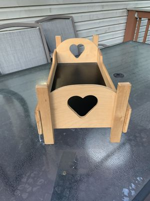 """Wood bed for a 20"""" doll or less for Sale in Jessup, MD"""