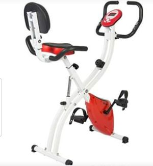 Upright Exercise Bike 8 Resistance Levels Folding Adjustable Gym for Sale in Wilkes-Barre, PA