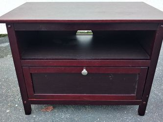 Brown Wooden End Table w/ Cabinet for Sale in Bellevue,  WA