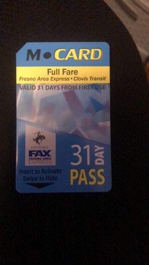 Monthly bus pass for Sale in Fresno, CA