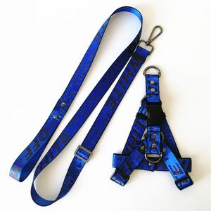 "Blue ""Off-White"" Dog Leash & Harness Set for Sale in Anaheim, CA"