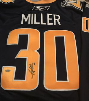 *NEW* Ryan Miller Autographed Buffalo Sabres 07-08 Blue Home Jersey w/ COA for Sale in Woodbridge, VA