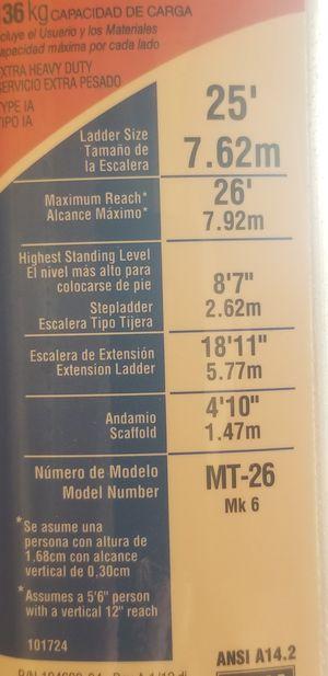 Allumanum ladder. 26 ft. Werner for Sale in Ocean Township, NJ