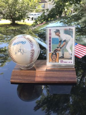 Signed baseball by Don Mattingly and card display for Sale in Greenville, SC