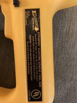 Arrow Heavy Duty Electric Stapler/Nail Gun model ETF50BN MADE IN USA for Sale in Seattle, WA