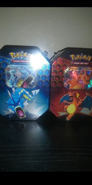 2 Pokemon hidden fates tins of for Sale in Valley Springs, CA