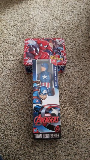 #28 Spidey lunchbox & Captain America for Sale in Brighton, CO
