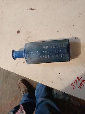 Medicine bottle 1800s wn.j.bryan san francisco for Sale in Castro Valley, CA