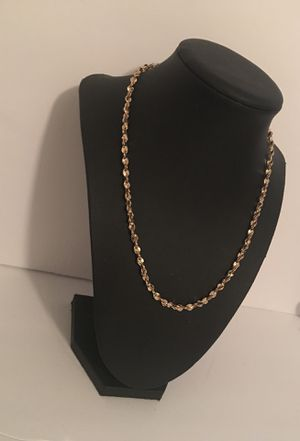 Gold plated twisted chain for Sale in Boston, MA