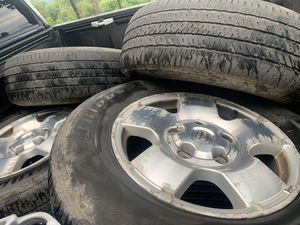 """2007 18"""" Toyota Tundra Sequoia Wheels with Tires for Sale in Mars Hill, NC"""