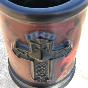 Red Cross Vase Or Candle Holder for Sale in Phoenix, AZ