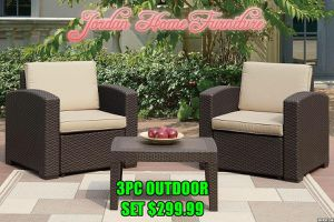 ☀️ 3pc outdoor set ☀️ Jordan Home Furniture ☀️ 2630 Niles st & 3900 Chester ave ☀️ for Sale in Bakersfield, CA