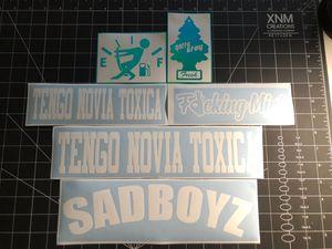 SADBOYZ Tengo Novia Toxica Gas Cap Decal Stickers for Sale in Las Vegas, NV