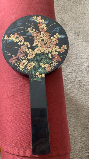1980s Hand Held Oriental Round Mirror for Sale in Wyoming, MI