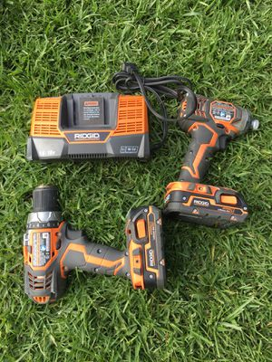 Ridgid 18v drill / impact set for Sale in Los Angeles, CA