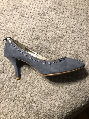 Blue suede peep toe heels for Sale in Port Richey, FL