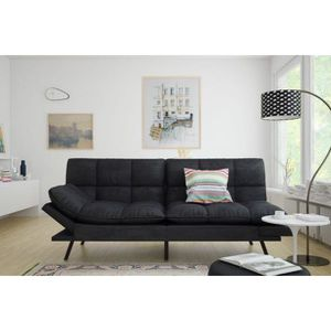 Couch Sofa Bed Futon - Memory Foam Black Suede for Sale in Corona, CA