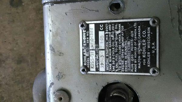 Kohler 195cc 2 stroke engine for Sale in Akron, OH - OfferUp
