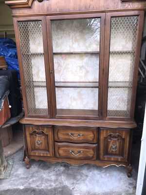 Large Two piece china cabinet for Sale in Wendell, NC