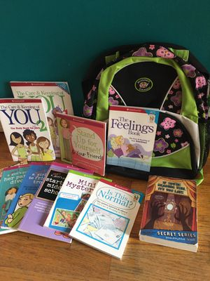 American Girl books and new backpack for Sale in Renton, WA