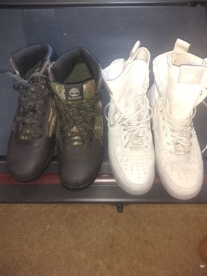 Nike and camouflage timberlands for Sale in Stone Mountain, GA