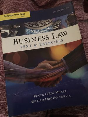 Business Law (Text & Exercises) 8th ed. for Sale in Tampa, FL