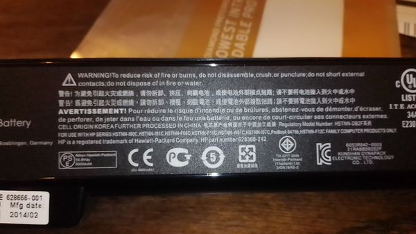 New HP CC06 notebook battery