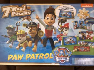 Paw Patrol 7 wood puzzles for Sale in Miami, FL