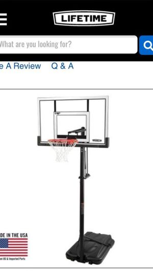 Lifetime elite basketball hoop for Sale in Lockport, IL
