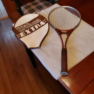 Wilson vintage tennis racket and case for Sale in Tigard, OR