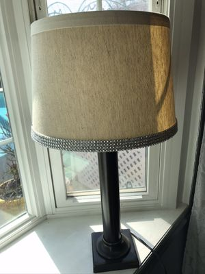 Lamp new. $35 measurements: 28.5 inches tall farm house style one only for Sale in Fresno, CA