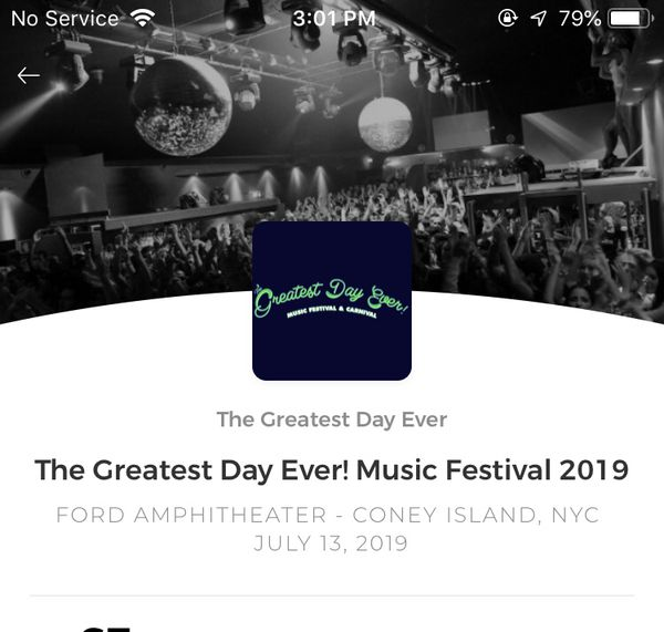 The Greatest Day Ever Music Festival Tickets